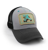 S.L. Revival Co. Everyday Trucker Hat, Structured, Vintage Roller Skates, Grey