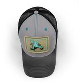 S.L. Revival Co. Vintage Roller Skates, Trucker Hat, Structured, Grey