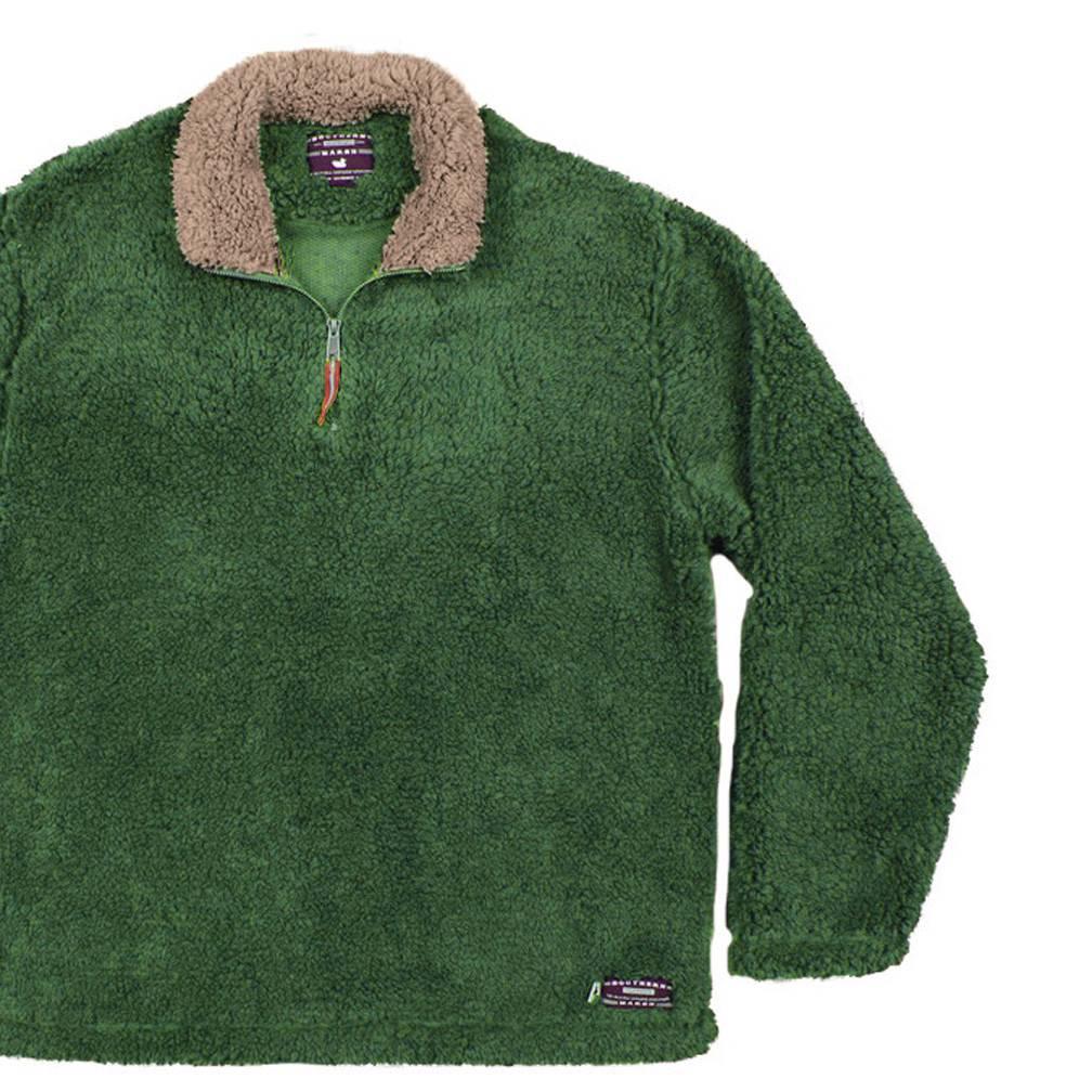 Appalachian Pile Pullover, Washed Dark Green