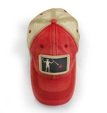 S.L. Revival Co. Blackbeard Pirate Flag Trucker Hat, Nautical Red