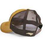 S.L. Revival Co. North Carolina Flag Trucker Hat, Structured, Tobacco Brown