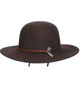 BC Hats Bird and Feather Wool Hat Brown