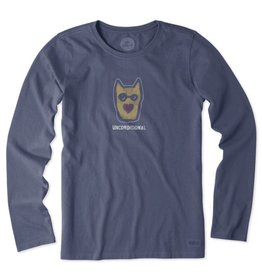 Life is Good W's Crusher LS Unconditional Rocket, Dust Blue