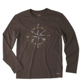 Life is Good M Crusher LS Go Places Compass, Dark Brown