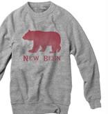 S.L. Revival Co. New Bern Bear Crew Sweatshirt, Heather Grey