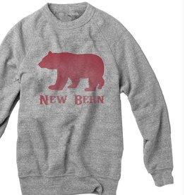 State Legacy Revival New Bern Bear Crew Sweatshirt, Heather Grey