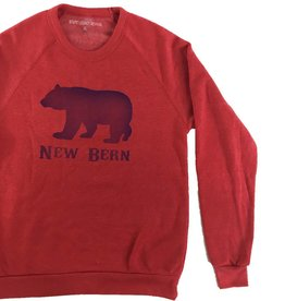 S.L. Revival Co. New Bern Bear Crew Sweatshirt, Red