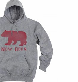 S.L. Revival Co. New Bern Bear Hoodie, Heather Grey