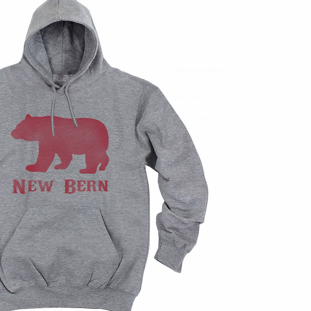 S.L. Revival Co. New Bern Bear Hoodie, Heather Grey