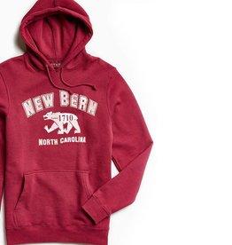 State Legacy Revival New Bern College Hoodie, Red