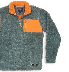 Southern Marsh Piedmont Range Sherpa Pullover, Washed Slate and Burnt Orange