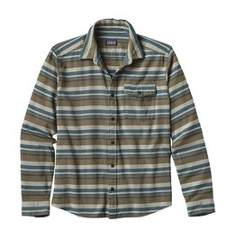 Patagonia Men's Long-Sleeved Lightweight Fjord Flannel Shirt, Arborist: Industrial Green