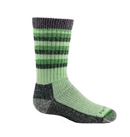 Farm to Feet Kids Medium Kittery Hike Crew Socks, Green Flash