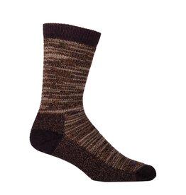 Farm to Feet Mens Large Bend Crew Socks, Chocolate