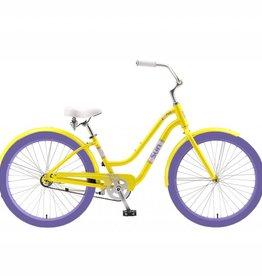 J and B Importers Cruz Women's Alloy Beach Bike w/basket, ECU Gold