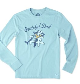 Life is Good M Crusher LS Grateful Dad Adirondack, Bleached Blue