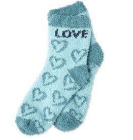 Life is Good W Women's Snuggle Love Hearts, Fresh Blue