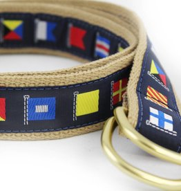 Leather Man LTD Navy Code Flag Khaki Cotton Belt