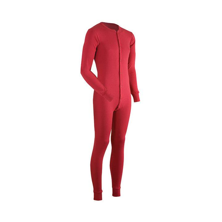 Coldpruf Authentic Union Suit, Red
