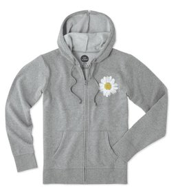 Life is Good W's Go-To Zip Hood LIG Daisy, Heather Gray