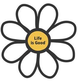 Life is Good U Die Cut Sticker Daisy Sticker, Cloud White