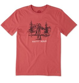 Life is Good M Crusher Tee Happy Hour Fish, Americana Red