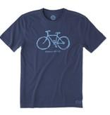 Life is Good M's Crusher Tee Mobile Device Bike, Darkest Blue