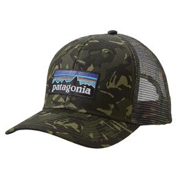 Patagonia P-6 Logo Trucker Hat, Big Camo: Fatigue Green
