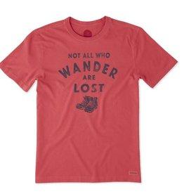 Life is Good M's Crusher Tee Wander Hike, Americana Red