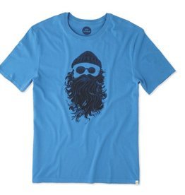 Life is Good M's Smooth Tee Salty Beard, Marina Blue