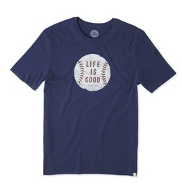 Life is Good M's Smooth Tee Vintage Baseball, Darkest Blue