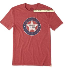 Life is Good M's Cool Tee Art of Optimism, Americana Red