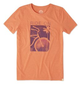 Life is Good W's SS Cool Tee Ride On Bike, Deep Orange