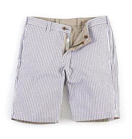 Tailor Vintage Men's Reversible Walking Short, Navy Seersucker/Khaki