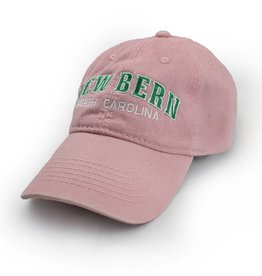 ESY New Bern Embroidered Hat, Pink w/Green Stitich