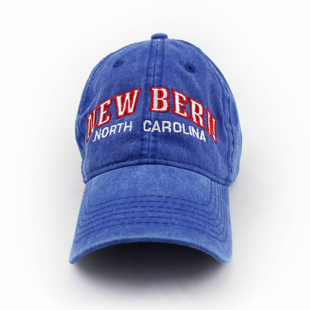 ESY New Bern Embroidered Hat, Royal w/Red Stitch