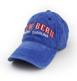 Surf, Wind and Fire New Bern Embroidered Hat, Royal w/Red Stitch