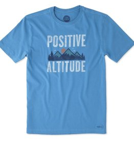 Life is Good M's Crusher Tee Postive Altitude, Marina Blue
