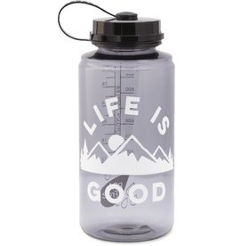 Life is Good A Water Bottle, LIG Mountains Slate Grey