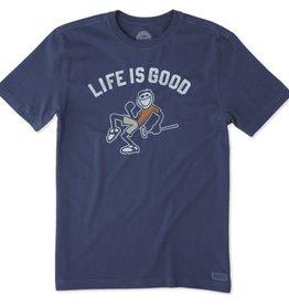 Life is Good M Crusher Tee Pump Putt LIG, Deepest Blue