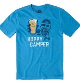 Life is Good M Crusher Tee Hoppy Camper, Marina Blue