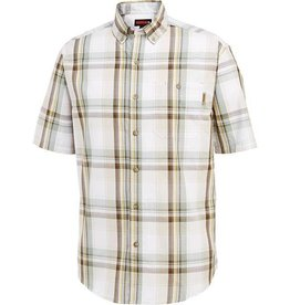 Wolverine M's Petoskey S/S Cotton Shirt, Vintage Khaki Plaid