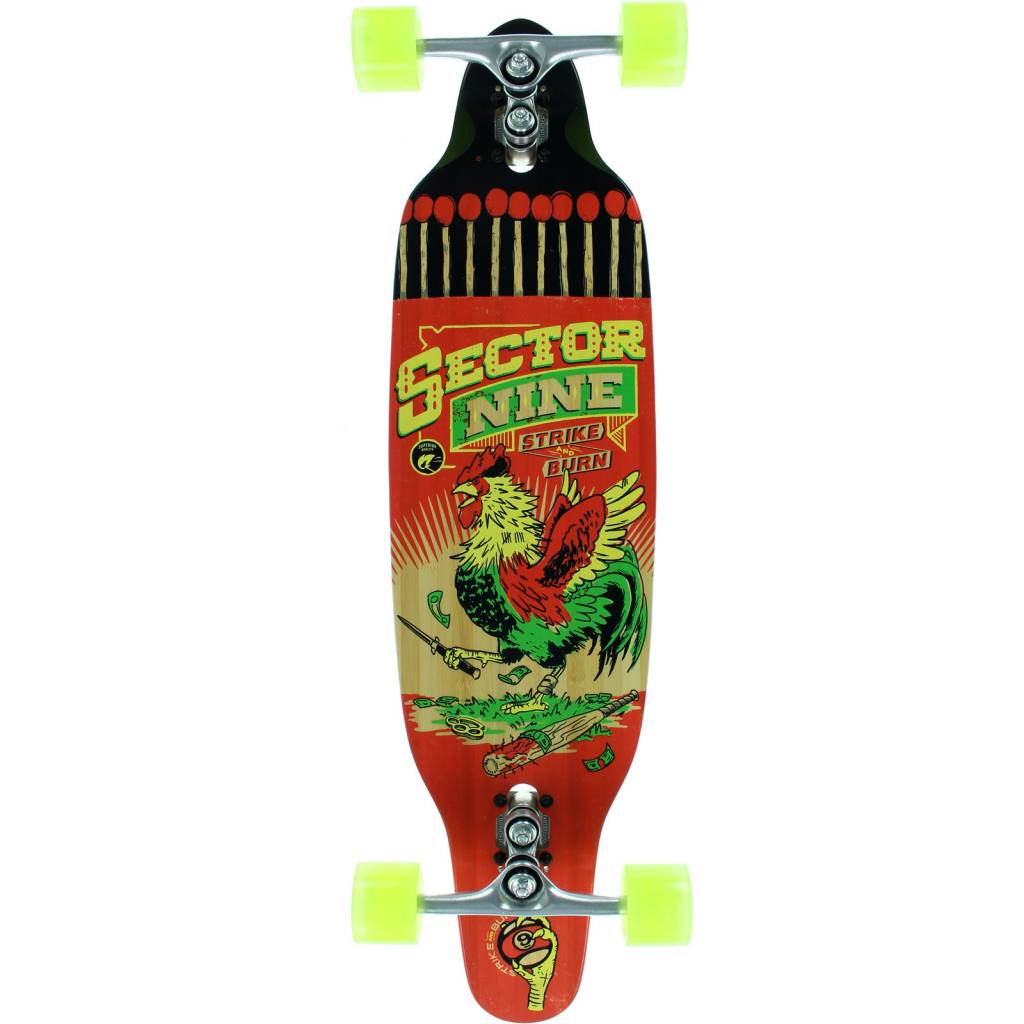 Eastern Skate Supply Sector 9 Striker 2016, Red/Yellow/Green Complete