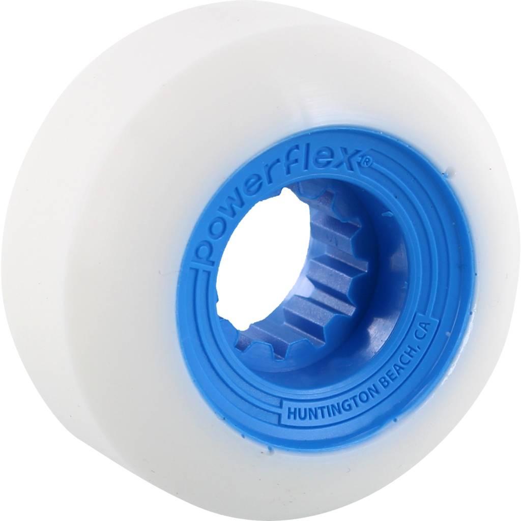 Eastern Skate Supply Powerflex Gumball White/Blue 56mm 83b, Set of 4