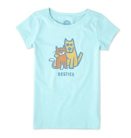 Life is Good Girls Besties Tee SS, Fresh Blue