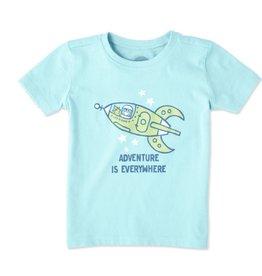 Life is Good Toddler Tee Spaceship Adventure SS, Fresh Blue