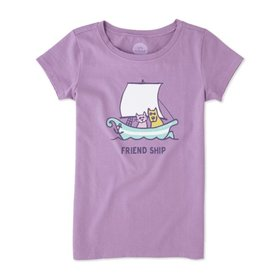 Life is Good Girls Tee Friend Ship SS, Dusty Orchid