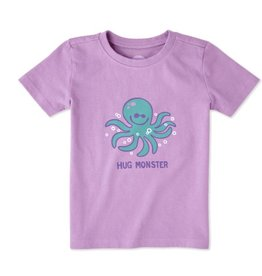 Life is Good Toddler Tee Hug Monster SS, Dusty Orchid