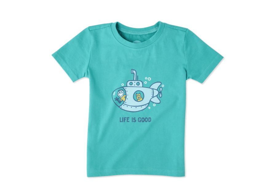 Life is Good Toddler Tee Submarine LIG SS, Bright Teal