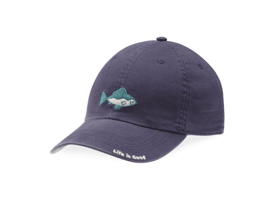 Life is Good Kids Chill Cap LIG Fish, Darkest Blue